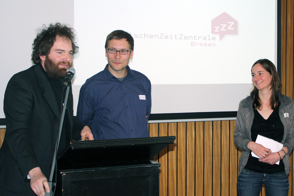 Daniel Schnier, Michael Ziehl und Sarah Oßwald von der ZZZ